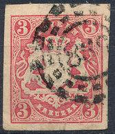 BAVARIA 1862-68? 3kr Used Lot#74 - Beieren