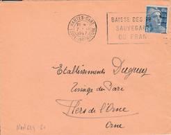 Nantes  - Flamme De 1947 - Postmark Collection (Covers)