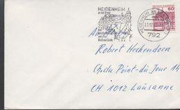3271  Carta Heidenheim 1980 Flamme, Turístico, - [7] República Federal