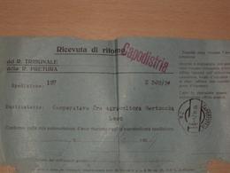 STORIA POSTALE ISTRIA SLOVENIA RICEVUTA DI RITORNO CON ANNULLO DI CAPODISTRIA 2a AUSTRIA SU REGNO ITALIA - Storia Postale