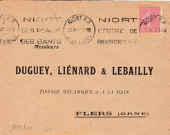 Niort  - Flamme De 1927 - Postmark Collection (Covers)
