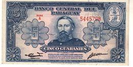 Paraguay P.186 5 Guarani 1952 Unc - Paraguay