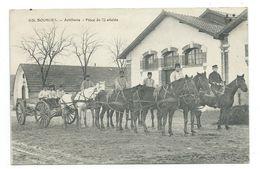 18/ CHER...BOURGES. Artillerie. Pièce De 75 Attelée - Bourges