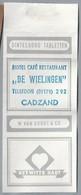 Suikerwikkel.- HOTEL CAFÉ RESTAURANT - DE WIELINGEN - CADZAND.  Sugar. Zucchero. Suiker. - Suiker