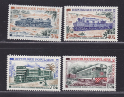 CONGO N°  334 à 337 ** MNH Neufs Sans Charnière, TB (D6643) Locomotives Du C.F.C.O. - Congo - Brazzaville