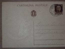 STORIA POSTALE ISTRIA CROAZIA CARTOLINA CON ANNULLO FERROVIARIO AMB. PARENZO TRIESTE - 1900-44 Victor Emmanuel III