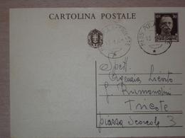 STORIA POSTALE ISTRIA CROAZIA CARTOLINA CON ANNULLO FERROVIARIO MESS. POLA TRIESTE MESSAGGERO - 1900-44 Victor Emmanuel III