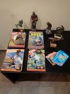 Grupo De 5 Trofeos De Pesca Y- Colección De 30 Revistas Feder Pesca España 2004-2007. - Pesca