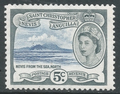 St Kitts-Nevis. 1954-63 QEII. 5c MH. SG 111 - St.Christopher-Nevis-Anguilla (...-1980)