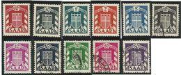 SARRE SAAR SERVICE N° 27 à 37 Neuf Sans Charnière Ou Oblitérés De  1949 - Officials