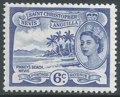 St Kitts-Nevis. 1954-63 QEII. 6c MH. SG 112 - St.Christopher-Nevis-Anguilla (...-1980)
