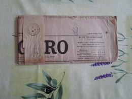 Vieux Journal Le Figaro 3eme Serie N°136 Du Lundi 16 Mai 1921 Avec La Bande Journaux Oblitérée - Old Paper