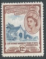 St Kitts-Nevis. 1954-63 QEII. 12c MH. SG 113 - St.Christopher-Nevis-Anguilla (...-1980)