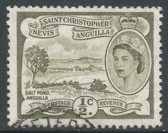 St Kitts-Nevis. 1954-63 QEII. ½c Used. SG 106a - St.Christopher-Nevis-Anguilla (...-1980)
