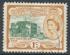 St Kitts-Nevis. 1954-63 QEII. 1c Used. SG 107 - St.Christopher-Nevis-Anguilla (...-1980)