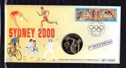 """FRANCE 2000 """" J.O. SYDNEY 2000 """" Sur Enveloppe Philatélique Numismatique 1er Jour N°tée. N° YT 3340A. Parfait état ! EPN - Other"""