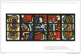 CPM Neuve .Audincourt Eglise Du Sacré Coeur. Les Vitraux -Carton- Fernand Leger.un Des Soldats Lui Perça Le Côté... - France