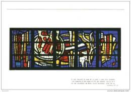 CPM Neuve .Audincourt Eglise Du Sacré Coeur. Les Vitraux -Carton- Fernand Leger.Je Suis Innocent Du Sang... - France