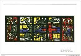CPM Neuve .Audincourt Eglise Du Sacré Coeur. Les Vitraux -Carton- Fernand Leger.Les Deux Arbres De Vie - France