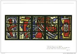 CPM Neuve .Audincourt Eglise Du Sacré Coeur. Les Vitraux -Carton- Fernand Leger.Pilate Prit Jésus... - France