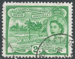 St Kitts-Nevis. 1954-63 QEII. 2c Used. SG 108 - St.Christopher-Nevis-Anguilla (...-1980)