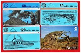 ARUBA: 1994 - 96 4 Cards. Used - Aruba