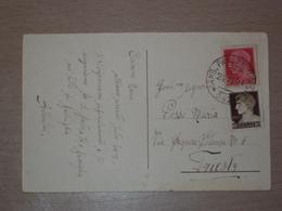 STORIA POSTALE ISTRIA CROAZIA CARTOLINA CON ANNULLO FERROVIARIO AMB. PARENZO TRIESTE 342 - 1900-44 Victor Emmanuel III