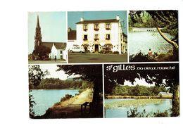 Cpm - 22 - Saint-Gilles-Vieux-Marché - HOTEL NEVO LE BIHAN - 1984 - Voiture Renault 4L - Saint-Gilles-Vieux-Marché