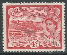 St Kitts-Nevis. 1954-63 QEII. 4c Used. SG 110 - St.Christopher-Nevis-Anguilla (...-1980)