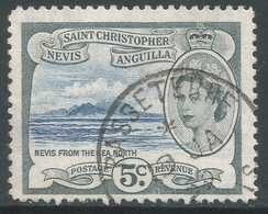 St Kitts-Nevis. 1954-63 QEII. 5c Used. SG 111 - St.Christopher-Nevis-Anguilla (...-1980)