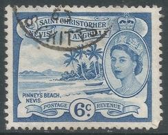 St Kitts-Nevis. 1954-63 QEII. 6c Used. SG 112 - St.Christopher-Nevis-Anguilla (...-1980)
