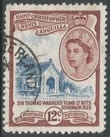 St Kitts-Nevis. 1954-63 QEII. 12c Used. SG 113 - St.Christopher-Nevis-Anguilla (...-1980)