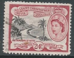 St Kitts-Nevis. 1954-63 QEII. 24c Used. SG 114 - St.Christopher-Nevis-Anguilla (...-1980)