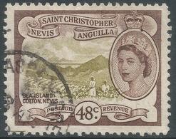 St Kitts-Nevis. 1954-63 QEII. 48c Used. SG 115 - St.Christopher-Nevis-Anguilla (...-1980)