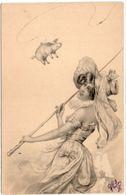 Art Nouveau - Femme Pechant Un Cochon (104331) - Vienne