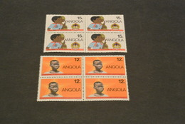 K14889- Set In Bloc Of 4 - MNH Angola 1988-  SC. 757-758 - Pioneer Day - Angola