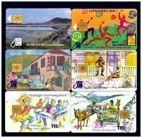 St. MAARTEN: 6 Chip Cards Used - Antilles (Netherlands)