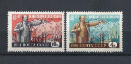 URSS576) 1961 -Piano Elettrificazione - Serie Cpl 2 Val.MNH** - 1923-1991 USSR