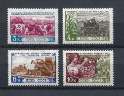 URSS577) 1961 -Agricoltura E Allevamento - Serie Cpl 4 Val.MNH** - 1923-1991 URSS