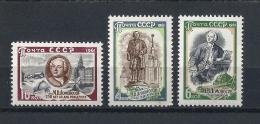 URSS595) 1961 - LOMONOSOV - Serie Cpl. 3 Val. MNH** - Nuovi