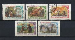 URSS598) 1961 - FIABE RUSSE - Serie Cpl. 5 Val. USED - Oblitérés