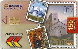 Bosnia - Republika Srpska Telekard - Stamps - Chip S35, Cn.0151, 150Units, Used - Bosnia
