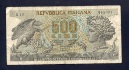 Banconota Italia - 500 Lire Aretusa 20/10/1967 - [ 2] 1946-… : Républic