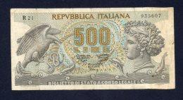 Banconota Italia - 500 Lire Aretusa 23/2/1970 - [ 2] 1946-… : Républic