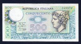 Banconota Italia - 500 Lire Mercurio 2/4/1979 - [ 2] 1946-… : Repubblica