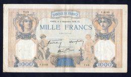 Banconota Francia - 1000 Franchi/Francs 3/11/1938 - 1871-1952 Circulated During XXth
