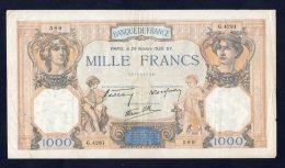 Banconota Francia - 1000 Franchi/Francs 20/10/1938 - 1871-1952 Circulated During XXth