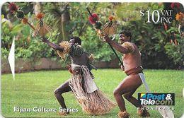 Fiji - Fijian Warriors Performing Spear Dance - 07FJD - 10$, 1994, 20.000ex, Used - Fiji