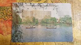 KOREA NORTH 1970s  Postcard - Pyongyang  - Pottonggang Hotel - Rowing - Korea, North