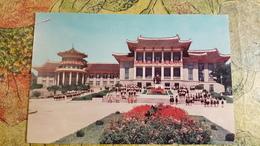 KOREA NORTH 1950s  Postcard - Pyongyang  - Pioneer Palace - Kim Il-sung Monument - Korea, North